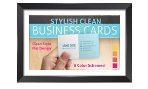 עיצוב פרסומי לתבנית כרטיס ביקור נקי